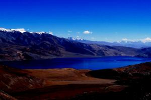 Tsomoriri lake is situated at 4600 m above sea level in eastern Ladakh or Rupsho Changthang Plataue.