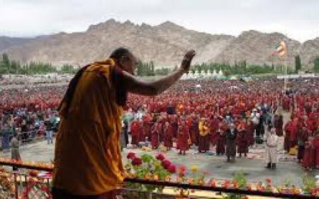 Dalai Lama in Ladakh 2018