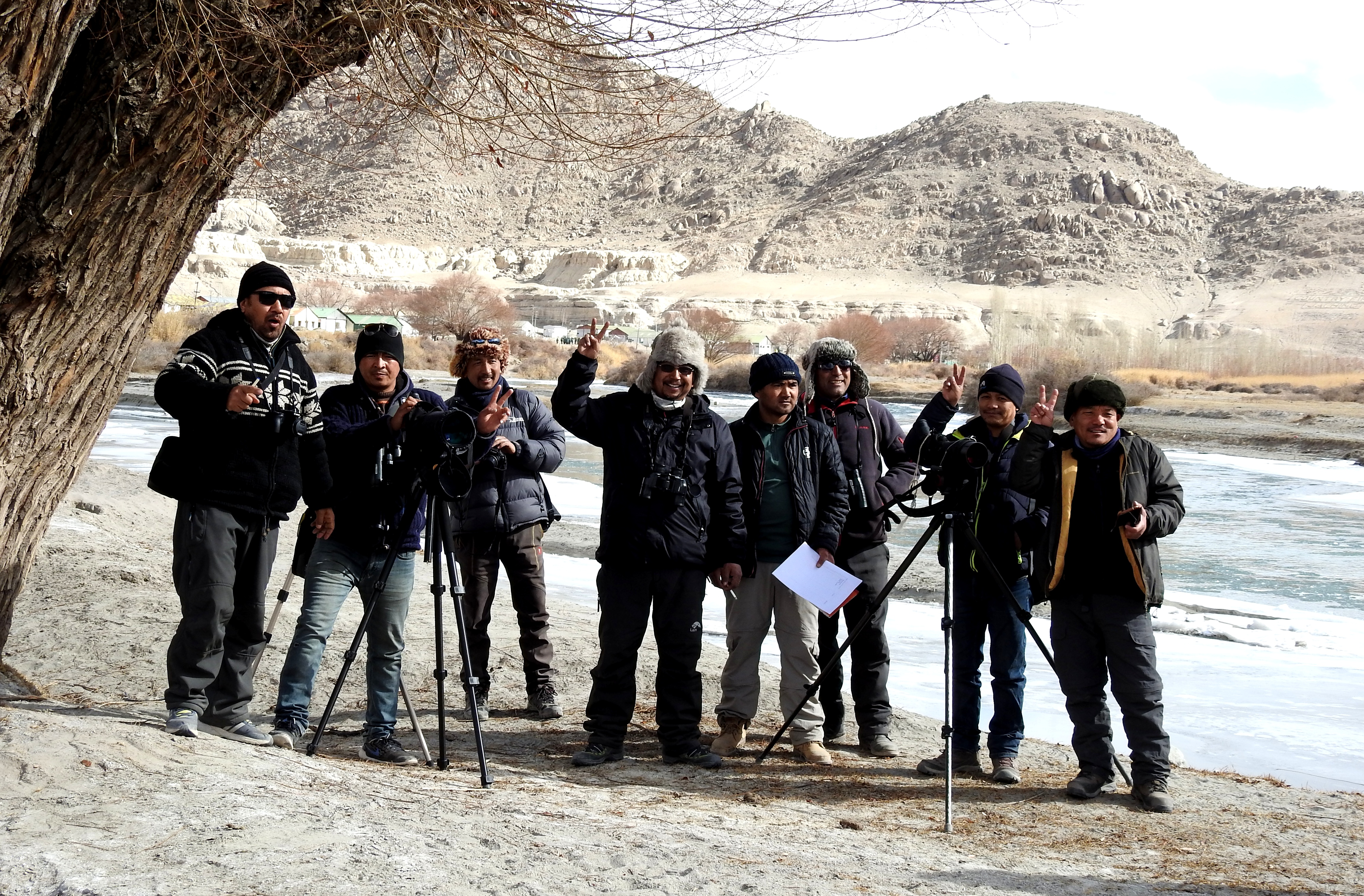 Birding in Ladakh an initiative by the founder members of Wildlife Conservation and Birds Club of Ladakh (WCBCL) for locals have done wonders in creating awareness about birds and conservation work in Ladakh.