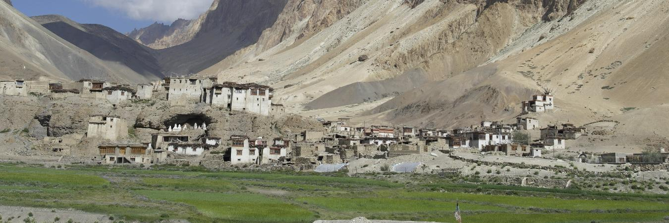 Kanji Village on the Kanji to Rangdum Trek with Ancient Tracks